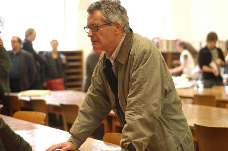 Herman Daled à la bibliothèque de La Cambre, 2005 © Aurore Dal Mas
