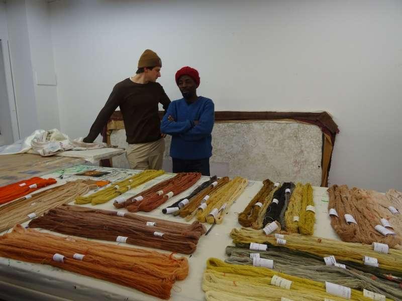 Territoires tissés, module transdisciplinaire en collaboration avec l'Association pour la valorisation et la promotion du tissage traditionnel d'Abomey et avec l'Ecole du Patrimoine africain